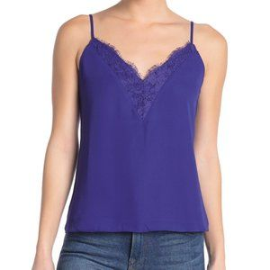 Socialite V-neck Cami (royal blue/purple, sz L)